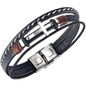 【5折超值價】十字架鈦鋼手環歐美時尚款男流行手環