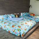 床包 / 雙人加大【波力救援小英雄-藍】含兩枕套,韓國可愛卡通,磨毛工法,戀家小舖台灣製