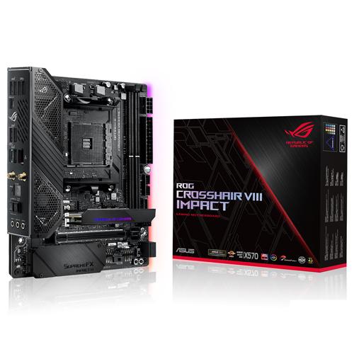ASUS 華碩 ROG Crosshair VIII Impact 支援 PCI-E 4.0 Mini-DTX AM4 腳位 AMD X570 主機板