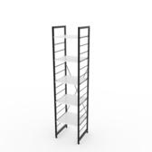 (組)特力屋萊特五層架黑框/白板-40x40x188cm