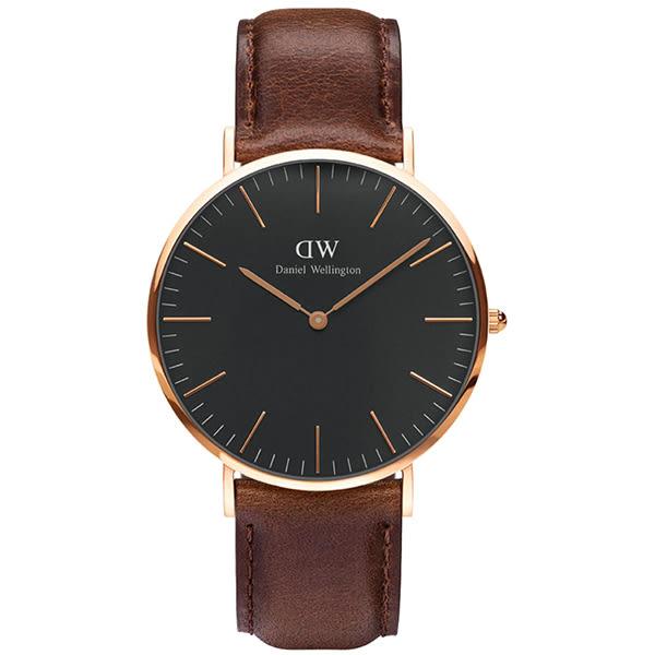 Daniel Wellington (DW) 經典真皮錶帶(手錶 男錶 女錶 對錶)-原廠公司貨-保固兩年