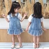女童吊帶裙2020新款兒童夏裝薄洋氣韓版可愛小童吊帶裙寶寶牛仔裙 米娜小鋪