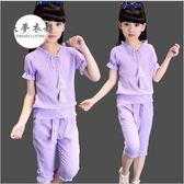 女童套裝女童夏裝套裝新款4兒童5大童裝6女孩7夏季8韓版9潮衣服10歲12