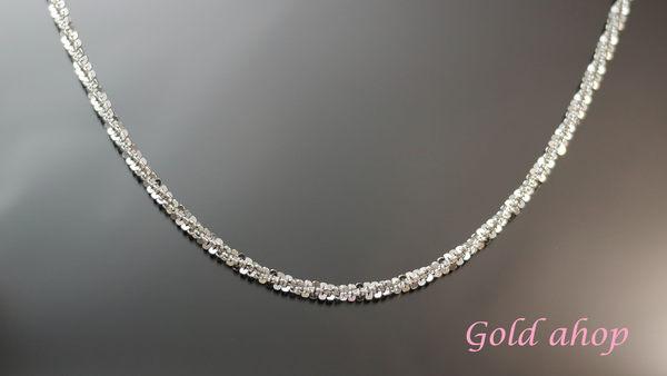 ☆ gold shop ☆╯義大利 585 白K金 男項鍊 長度65公分 [ kn 073 ]-4.02