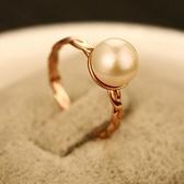 戒指 玫瑰金純銀 珍珠-個性獨特生日情人節禮物女飾品73by40[時尚巴黎]