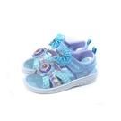 冰雪奇緣 Frozen Elsa Anna 涼鞋 電燈鞋 粉藍/格紋 中童 FOKT15256 no774