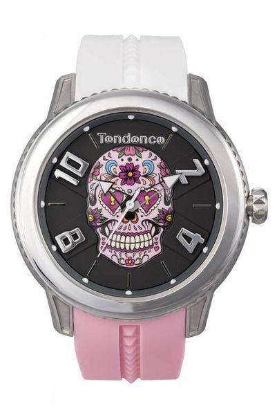 Tendence天勢表-圓弧系列花漾骷髏腕錶(手錶 男錶 女錶 Watch)-總代理原廠公司貨-原廠保固兩年