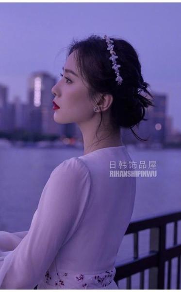 春季仙氣劉詩詩同款發箍珍珠公主風發卡頭飾頭箍壓發復古法式女卡 韓美e站