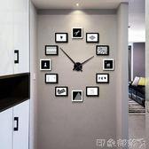設計感現代簡約時尚客廳掛鐘北歐創意個性DIY鐘錶靜音石英鐘掛錶 igo  全館免運
