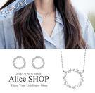 【Alice Shop】韓劇藍色海洋的傳說 李敏鎬 全智賢沈清配戴同款圓形水鑽鎖骨項鍊 【現貨】