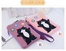 手機袋~Le Baobab日系貓咪包 啵啵貓毛線球智慧型手機袋/拼布包包
