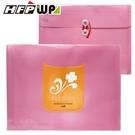 【HFPWP】紅色PP橫式附繩立體歐風文件袋 環保材質 板厚0.18mm台灣製 CEL218-R