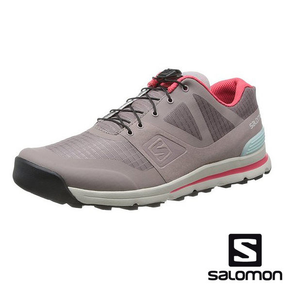 SALOMON OutbanLow女戶外輕量跑鞋 法蘭灰/褐 352921 健行鞋 | 休閒鞋