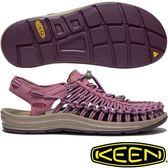 KEEN 1019939酒紅 Uneek 女專業戶外護趾編織涼鞋 繩編鞋/水陸兩用鞋/運動健走鞋/沙灘戲水鞋