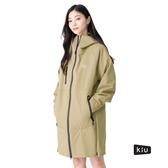 日本KIU 144911 米色 雨衣/斗篷2用 多功能防雨外套/時尚防水風衣 附收納袋(男女適用)