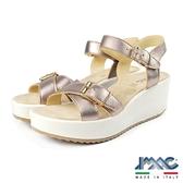 【IMAC】義大利真皮時尚厚底涼鞋 金屬色 (72710-CHA)