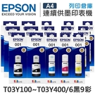EPSON 6黑9彩 T03Y100+T03Y200+T03Y300+T03Y400 原廠盒裝墨水 /適用 L4150/L4160/L6170/L6190/L14150