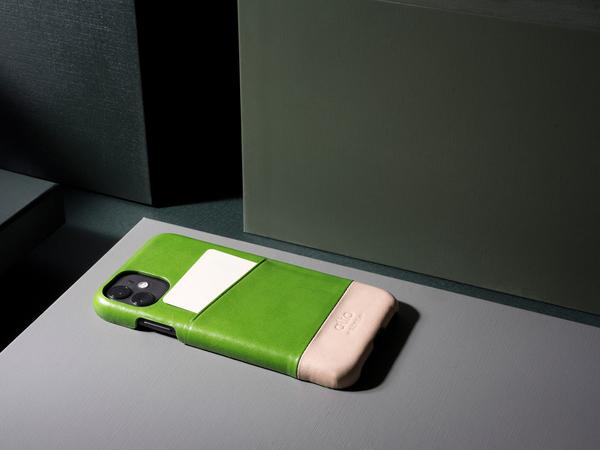 Alto iPhone 11 真皮手機殼背蓋 6.1吋 Metro - 萊姆綠/本色 【可加購客製雷雕】皮革保護套