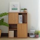 [ 家事達 ] SA2684-雅砌雙門四格收納書櫃 (原木色) 特價 DIY