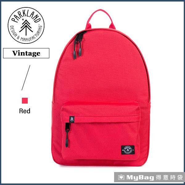 Parkland 後背包 紅色 電腦後背包 簡約休閒背包 Vintage-020 MyBag得意時袋