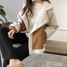 皮毛一體羊羔絨外套女2020新款秋冬天加厚羊羔毛夾克衫搖粒絨開衫 依凡卡時尚
