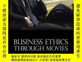 二手書博民逛書店Business罕見Ethics Through Movies: A Case Study ApproachY