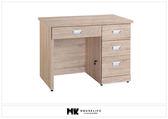 【MK億騰傢俱】BS236-04韋弗利原橡色3.5尺辦公桌
