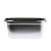 304不銹鋼密封保鮮盒2800ml-黑
