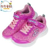 《布布童鞋》SKECHERS_S_LIGHTS_閃耀亮片桃粉色兒童電燈運動鞋(17~23公分) [ N9Y67LG ]