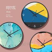 掛鐘客廳家用個性創意時尚現代簡約鐘錶臥室靜音藝術石英時鐘     color shopigo