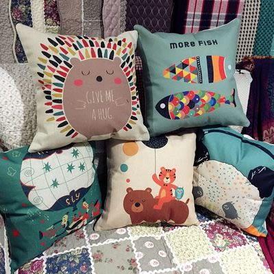 時尚可愛圖鴉抱枕 靠墊 沙發裝飾靠枕