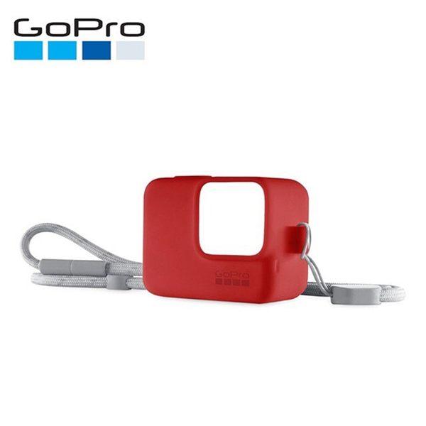 ◎相機專家◎ GoPro 矽膠護套 附繩 保護套 ACSST-005 紅色 HERO7 HERO6 HERO5 公司貨