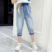 女童牛仔中褲2020新款夏季褲子中大兒童7分褲女孩洋氣夏裝七分褲 PA17110『美好时光』