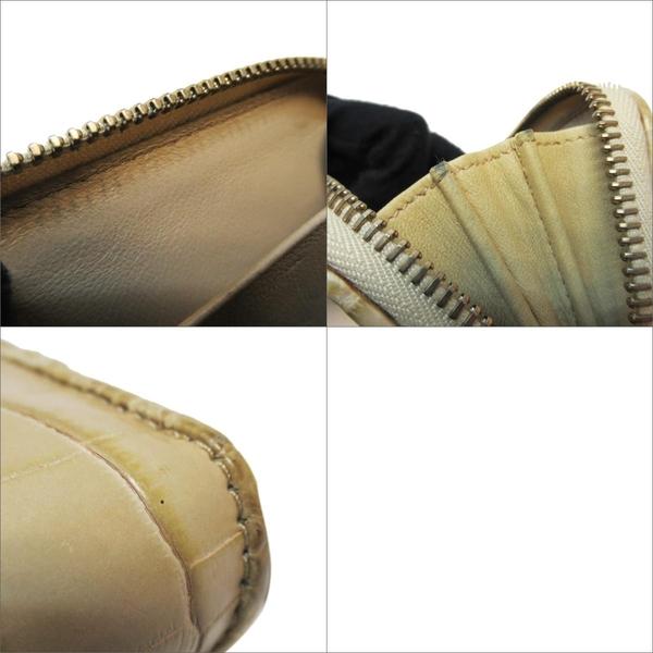 BOTTEGA VENETA 寶緹嘉 黃色牛皮鱷魚壓紋ㄇ字型拉鍊零錢包 【二手名牌BRAND OFF】