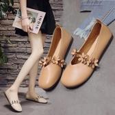 韓版單鞋女復古森女圓頭娃娃鞋百搭平底奶奶鞋舞蹈鞋 黛尼時尚精品