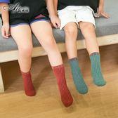 聖誕好物85折 春秋冬季兒童襪子純棉中筒復古女童韓版百搭寶寶襪子男孩運動襪潮
