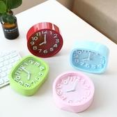 鬧鐘 台式創意個性學生兒童鐘表床頭靜音石英鐘桌面小擺件鬧鐘電子時鐘【幸福小屋】