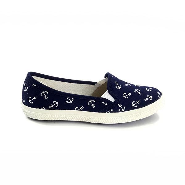 中童 簡約大方 魔鬼氈 柔軟輕便鞋 休閒鞋 懶人鞋 《7+1童鞋》E201 藍色
