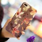 【SZ25】iPhone7/8plus手機殼 網紅同款木槿花鮮花 iPhone6s plus手機殼iPhone7/8防摔