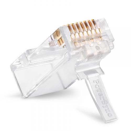 PowerSync 群加 Cat 6 透明 水晶頭 單件式 20個 CAT6-G8P8C320