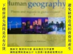 二手書博民逛書店英文原版:Human罕見geography Canadian E