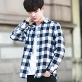 格子襯衫男長袖韓版潮流襯衣