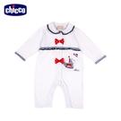 chicco-經典海洋-荷葉有領前開長袖兔裝(無腳套)