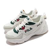 Fila 慢跑鞋 Hidden Tape 2 男鞋 白 綠 膠底 老爹鞋 運動鞋 【ACS】 1J329V116