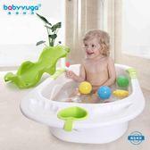 泡澡桶嬰兒浴盆 寶寶洗澡盆浴盆 兒童沐浴盆 新生兒嬰兒洗澡盆大號wy