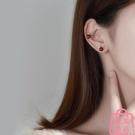 耳釘女石榴石耳環潮小巧氣質簡約精緻時尚耳飾【匯美優品】