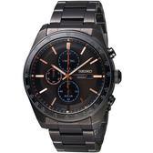 精工SEIKO潮流時尚太陽能計時腕錶 V176-0AZ0O SSC733P1