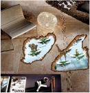 【天空之島A牆貼】60x90創意3D立體視覺無痕貼紙 家居客廳玄關浴室地面牆壁貼 防水裝飾地板貼