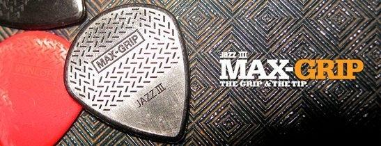 ☆唐尼樂器︵☆ Dunlop Jazz III Max-Grip 電吉他/電貝斯 Bass Pick 彈片(防滑速彈款)