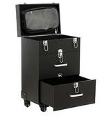 新款多層萬向輪拉桿化妝箱專業美甲工具箱跟妝箱大號 歐亞時尚
